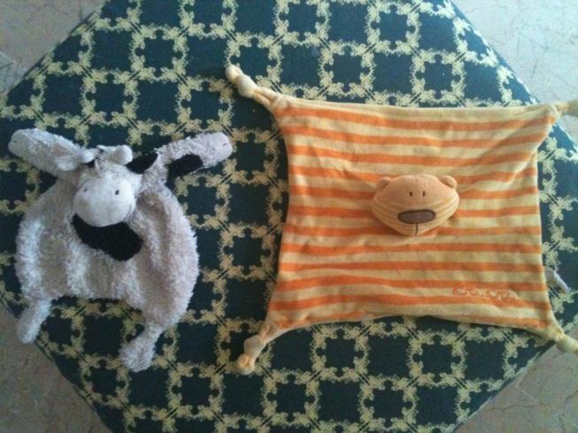 Vaca y oso, las mantitas de segunda generación para Nico
